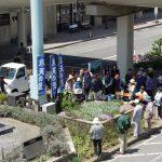 蓼科高原の玄関口『JR茅野駅』の西口花壇を市民の皆様と植栽しました。