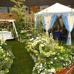 国際バラとガーデニングショウ・ケイ山田の庭で使用しているテントとブランコの通信販売を行います。