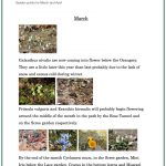 Garden points for March and April