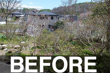 長野県 K様邸ガーデン施工例ビフォー